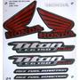 Adesivo Cg Titan 150 2012 Esd Preta, Faixa Original Completa