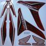 Adesivo Cg Fan 150 2013 Esdi Vermelha, Edição Especial