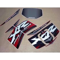 Kit Jogo Adesivos Completo Xr 200 R 2002 Vermelha