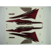 Adesivo Cb500 2001 Vermelha, Faixa Original Completa