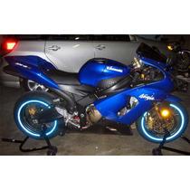 Adesivo Friso Curvo 7mm Refletivo Azul Roda Moto I.s Tech
