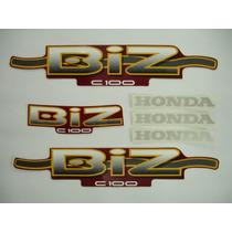 Adesivo Biz Ks 2002 Vermelha, Faixa Original Completa