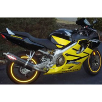 Adesivo Friso Refletivo Curvo Moto Amarelo 7mm