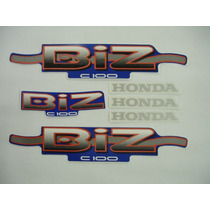 Adesivo Biz Ks 2002 Azul, Faixa Original Completa