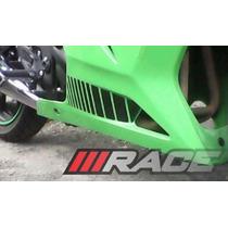 Jogo Adesivos Ninja 250r Kawasaki Listras Carenagem Inferior
