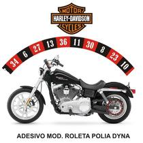 Adesivo Polia Roleta Casino Harley Davidson Dyna Rln123