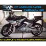 Adesivos P/ Moto Fazer Carenada (r2) C/ Kit Aro Reflet+envio