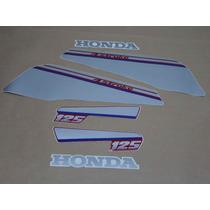 Kit Adesivos Honda Ml 125 1988 Vinho - Decalx