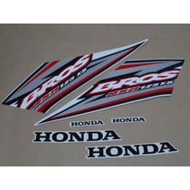 Kit Adesivos Honda Nxr125 Ks Bros 2005 Branca - Decalx