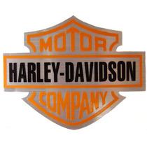 Lindo Adesivo Harley - Escudo Aço Escovado P/ Moto Carro Etc