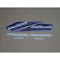 Kit Adesivos Honda Nxr125 Es Bros 2005 Azul - Decalx