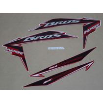 Kit Adesivos Honda Nxr150 Ks Mix Bros 2010 Vermelha - Decalx