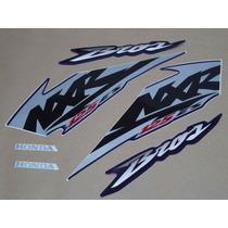 Kit Adesivos Honda Nxr 125 Es Bros 2003 Azul - Decalx