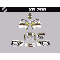 Kit Adesivos Gráficos Para Moto Xr 200 Cola 3m Importada
