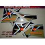 Adesivo Aba Tanque Xt 660r 05 A 12 Azul-preto-vermelho