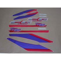 Kit Adesivos Honda Cg Today 1993 Vermelha - Decalx