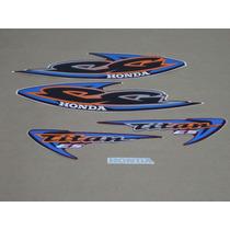 Kit Adesivos Honda Cg Titan Es 2000 Vermelha - Decalx