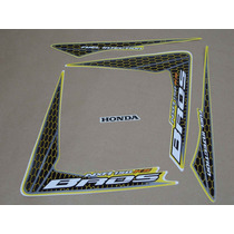 Kit Adesivos Honda Nxr150 Ks Bros 2009 Amarela - Decalx