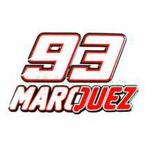 Kit Adesivos 93 Marc Marquez Moto Gp Resinado Numero E Letra