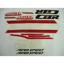 Adesivo Cbr450 Sr 1989/90 Branca/vermelha, Faixa Original