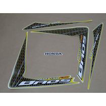 Kit Adesivos Honda Nxr150 Esd Bros 2009 Amarela - Decalx