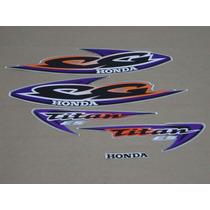 Kit Adesivos Honda Cg Titan Es 2000 Prata - Decalx