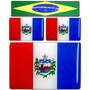 Kit 3 Bandeiras Resinadas Alagoas -1de 6x4 2 De 2,5x1,5 Cm