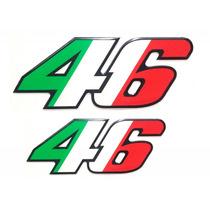 Kit Adesivos Número 46 Itália Valentino Rossi Alto Relevo