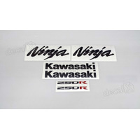 Kit Adesivos Kawasaki Ninja 250r 2008 Verde - Decalx