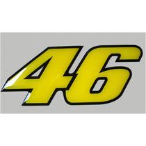 Adesivo Número 46 Valentino Rossi Resinao-alto Relevo-grande