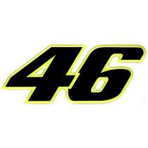 Adesivo Número 46 Valentino Rossi Preto - Resinado - Grande