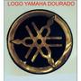Emblemas Resinados Logo Yamaha Dourado Moto Tuning Tanque