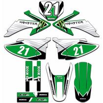 Adesivos Gráficos Moto Crf 230 Crf230 Completo Modelo Crf09