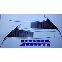 Adesivo Xt660 R 2010 A 2013 Azul, Faixa Original Completa