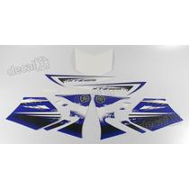 Kit Adesivos Xtz 125 2012 Azul - Decalx