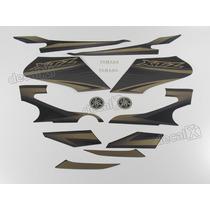 Kit Adesivos Xtz 125 2012 Preta - Decalx