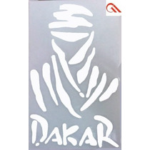 Adesivo Dakar P Branco Vazado - Carro Moto Note Vidro Etc