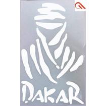 Adesivo Dakar G Branco Vazado - Carro Moto Note Vidro Etc
