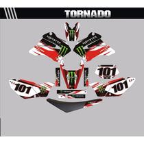 Kit Adesivos Completo Para Moto Tornado + Capa De Banco