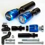 Kit Slider Dianteiro E Traseiro Kawasaki Er6n Er-6n Azul