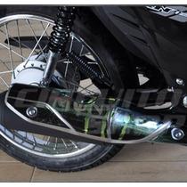 Adesivo Protetor Relevo Escape Moto Honda Fan 125 2014