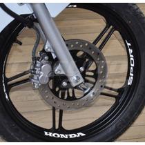 Adesivos Refletivos Roda Interno Moto Fan Titan Sport Honda