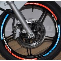 Kit Tricolor Refletivo Friso E Interno Honda Titan 150 Mod01