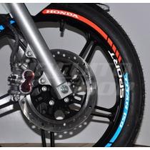 Kit Tricolor Refletivo Friso E Interno Honda Titan 150 Mod02