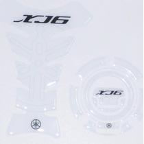Protetor 3d Tankpad Tanque Bocal Branco Moto Yamaha Xj6 600