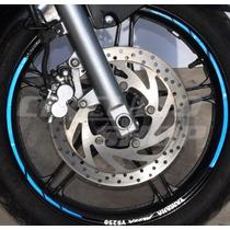 Friso Adesivo Refletivo Rec08 Roda Moto Yamaha Fazer 250