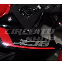 Adesivo Faixa Auto Relevo Moto Yamaha Xj6 2011 Letter Cromo