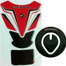 Kit 2 Protetores Tanque E Bocal Honda Cb300r Vermelho