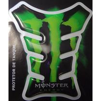 Adesivo Protetor De Tanque Monster Verde