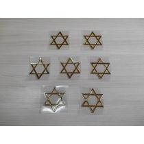 Adesivo Religioso Resinado Estrela De Davi Evangélico 7x8 Cm